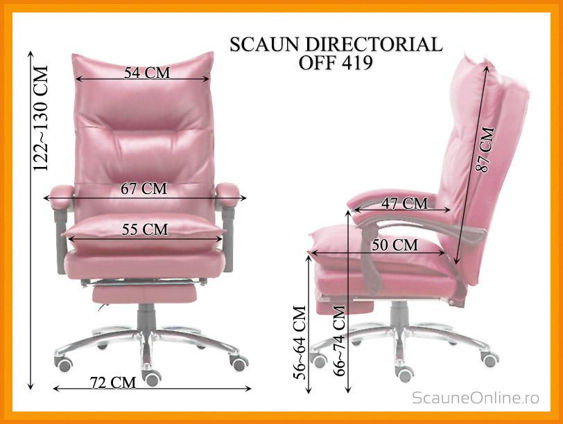 Dimensiuni Scaun directorial OFF 419