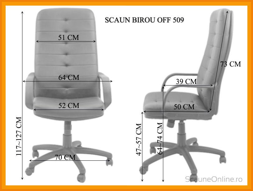 Dimensiuni Scaun de birou OFF 509