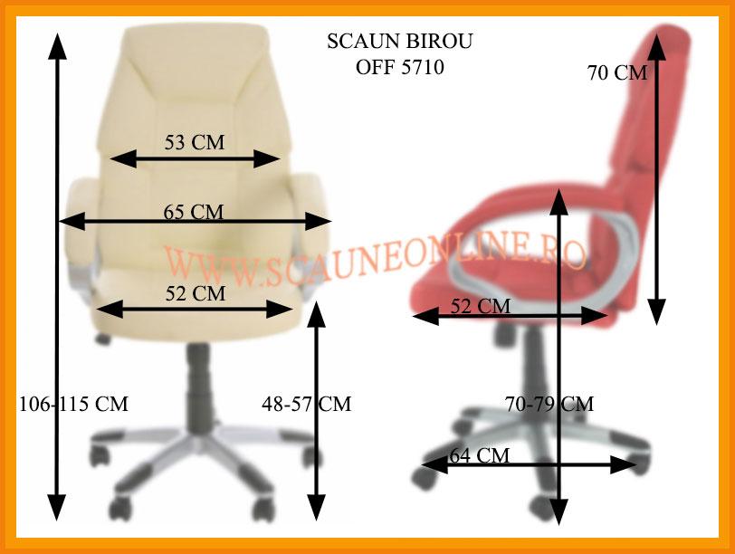 Dimensiuni Scaune de birou OFF 5710