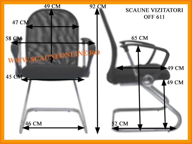 Dimensiuni scaune conferinta OFF 611