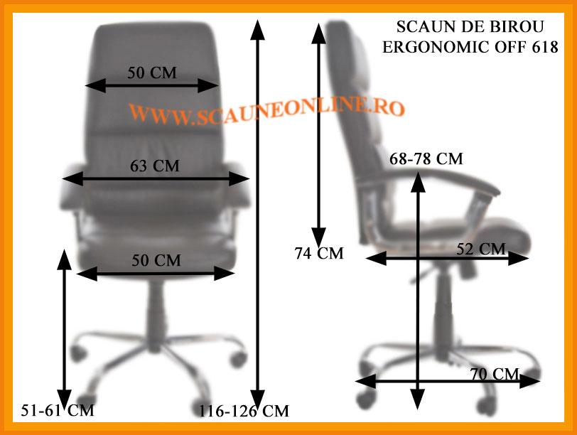 Dimensiuni scaun birou ergonomic OFF 618