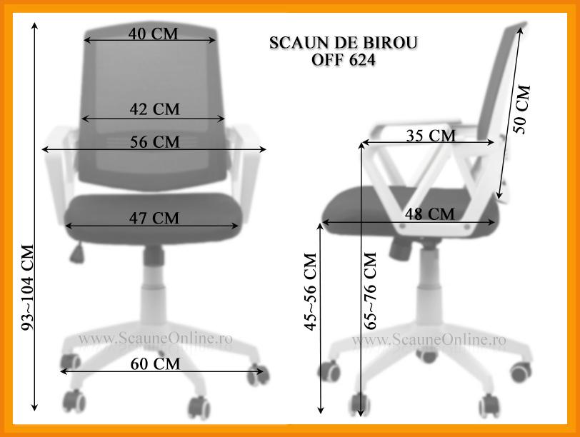 Dimensiuni Scaun de birou OFF 624