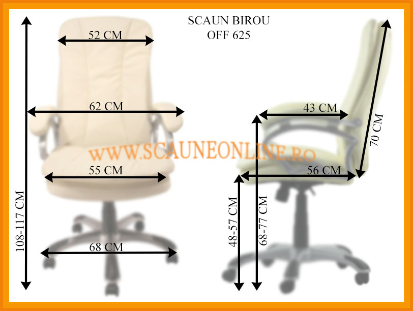 Dimensiuni scaune birou OFF 625