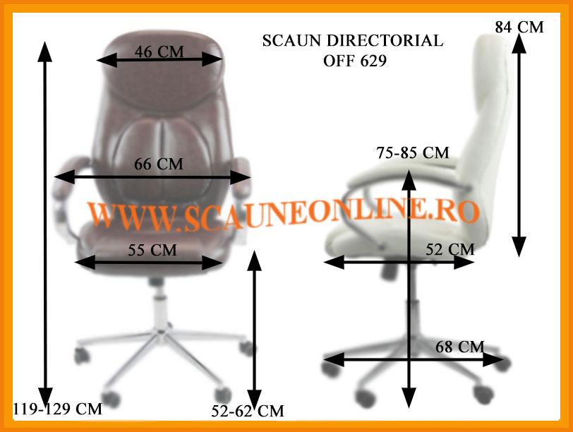 Dimensiuni Scaun directorial OFF 629