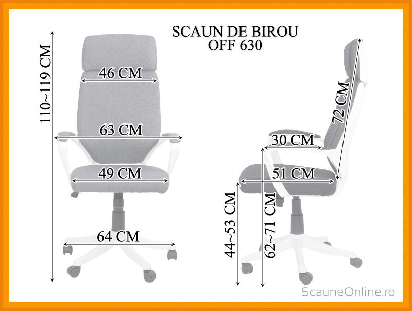 Dimensiuni Scaun de birou OFF 630