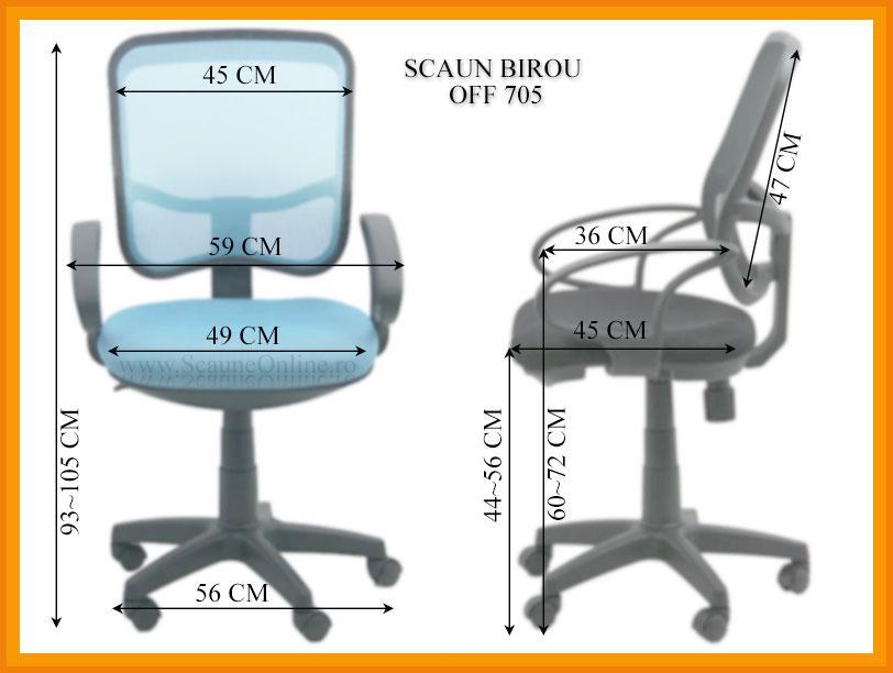 Dimensiuni Scaun de birou OFF 705