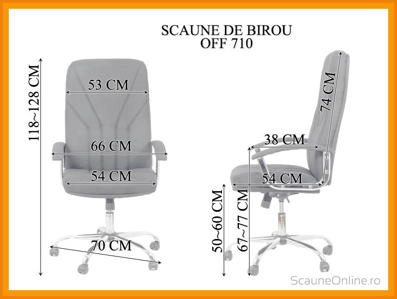 Dimensiuni Scaun de birou OFF 710