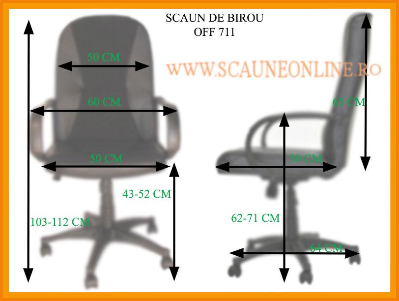 Dimensiuni Scaune de birou OFF 711