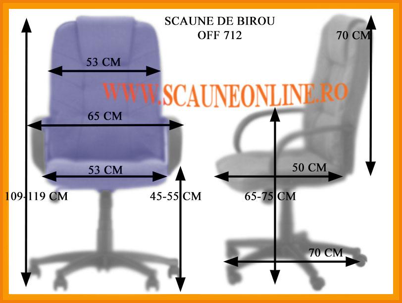 Dimensiuni Scaune de birou OFF 712