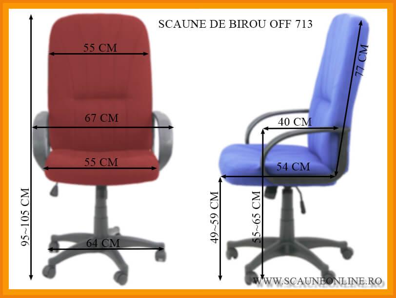 Dimensiuni Scaune de birou OFF 713