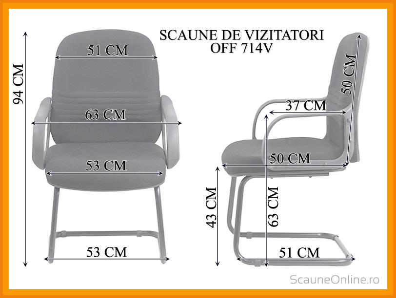 Dimensiuni Scaun de vizitatori OFF 714V