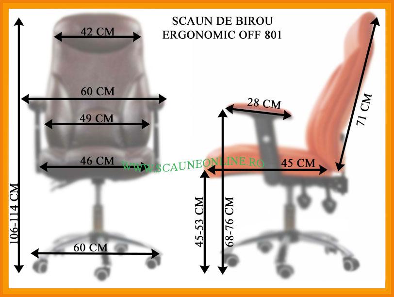 Dimensiuni scaune birou OFF 801