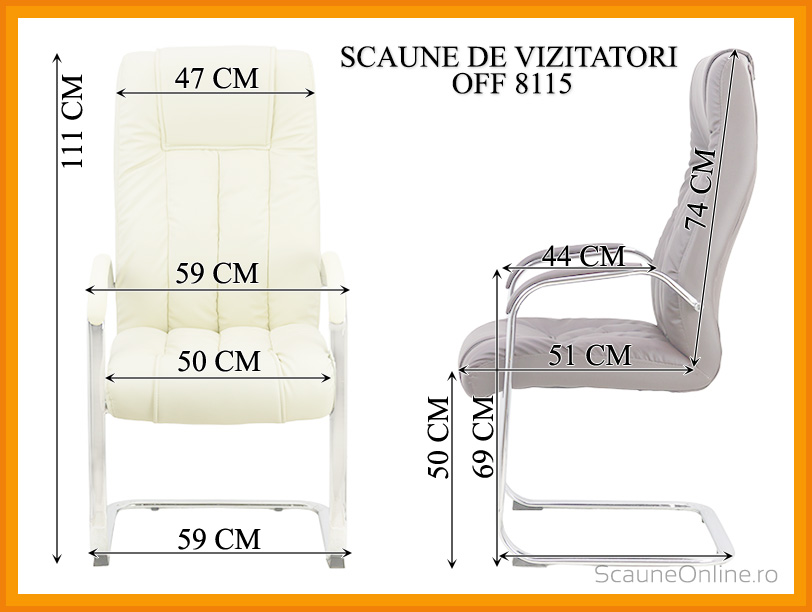 Dimensiuni scaune de vizitatori OFF 8115