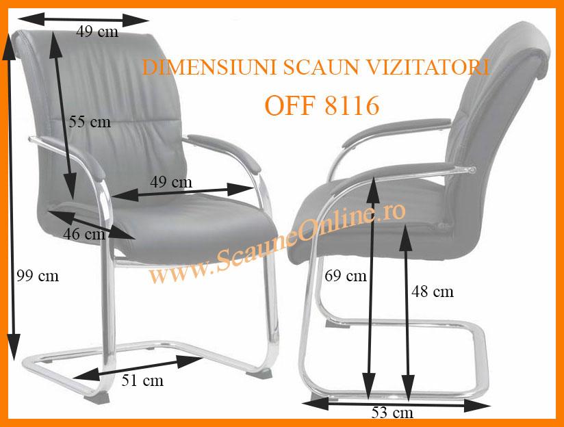 Dimensiuni scaune de vizitatori OFF 8116