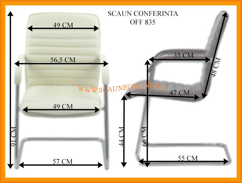 Dimensiuni scaune asteptare OFF 835