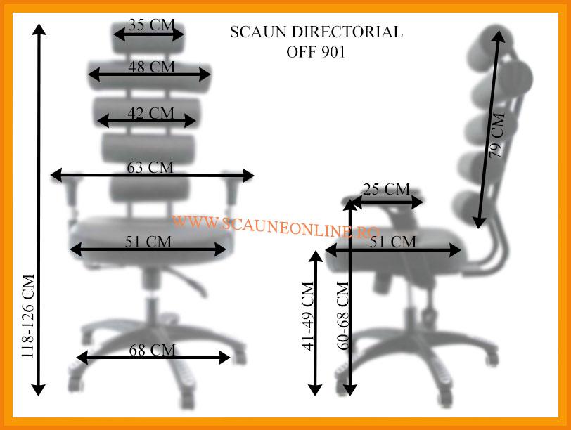 Dimensiuni Scaun directorial OFF 901 - Vertebro