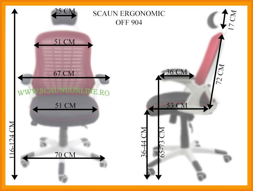 Dimensiuni Scaune ergonomice de birou OFF 904