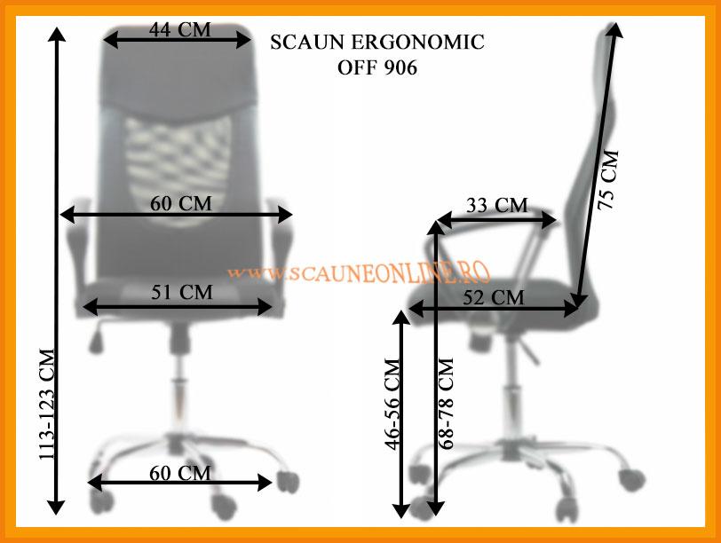 Dimensiuni Scaun ergonomic OFF 906