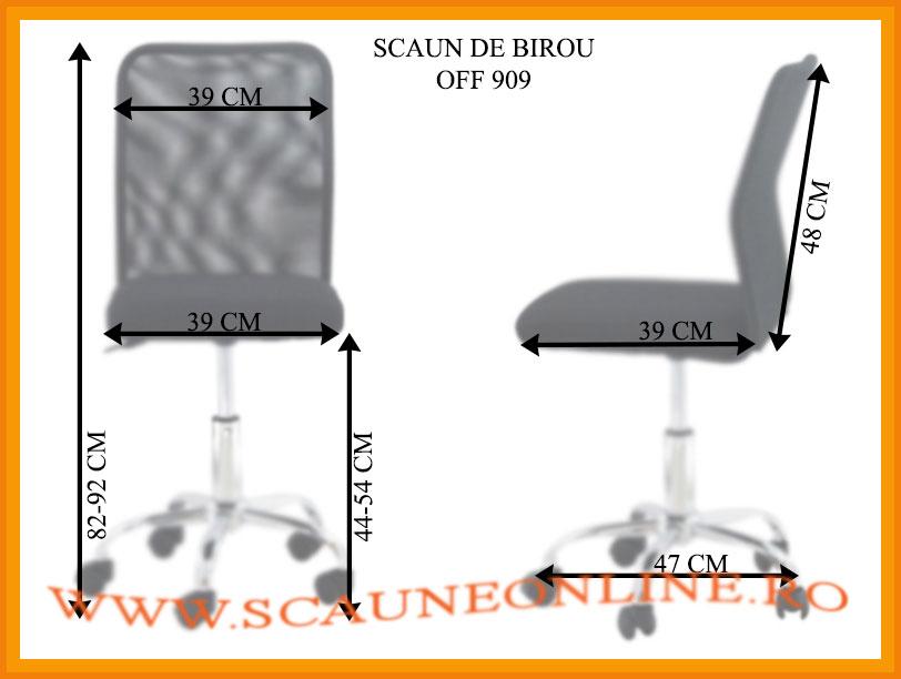 Dimensiuni scaune birou OFF 909