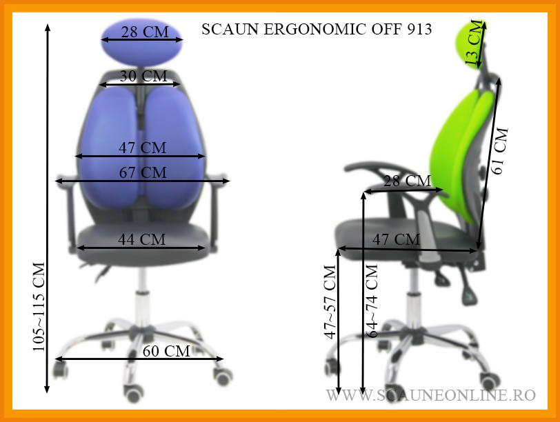 Dimensiuni Scaun ergonomic OFF 913