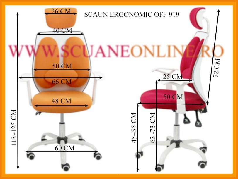 Dimensiuni Scaun ergonomic OFF 919