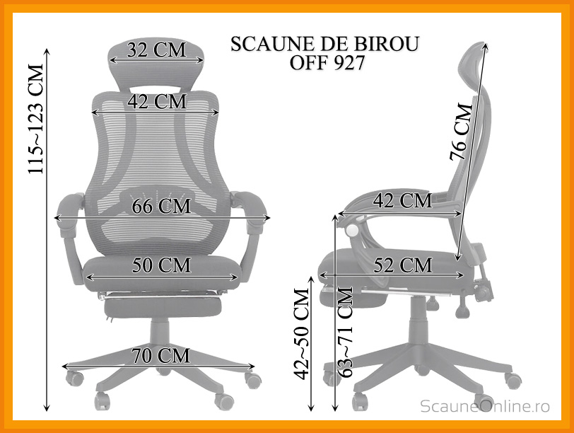 Scaun de birou ergonomic OFF 927