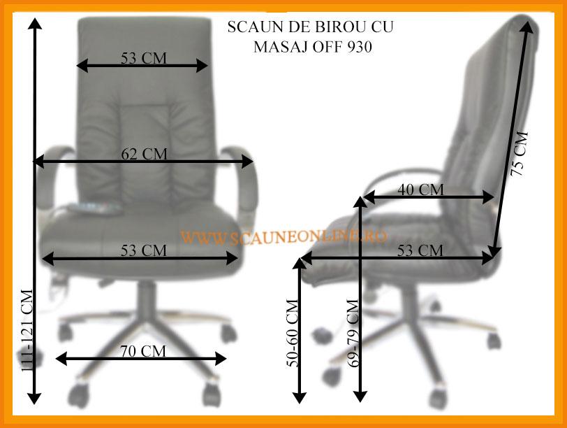 Dimensiuni Scaune de birou cu masaj OFF 930