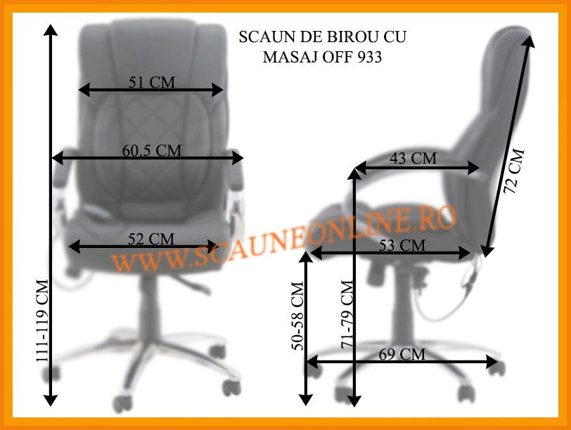 Dimensiuni scaune birou OFF 933