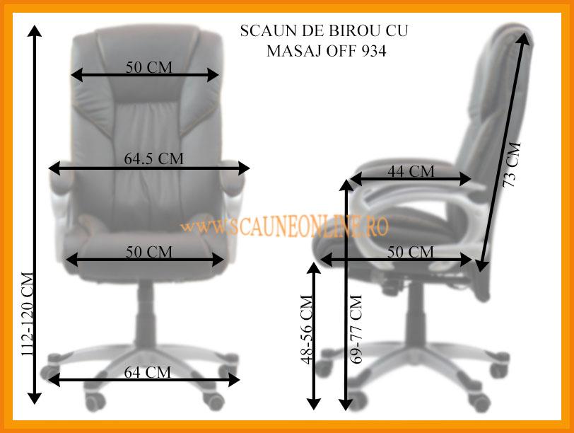 Dimensiuni Scaun de birou cu masaj OFF 934