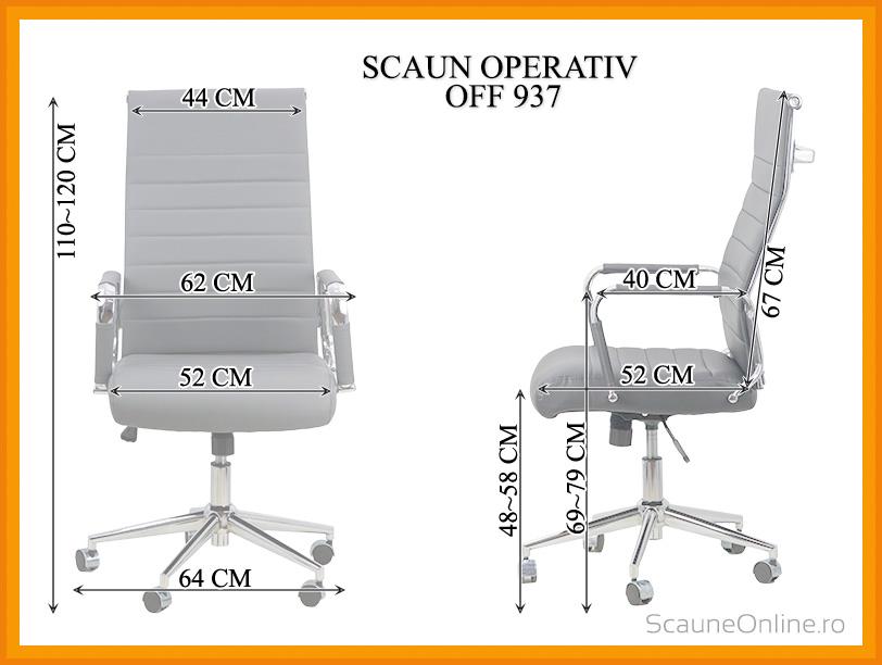 Dimensiuni Scaun de birou OFF 937