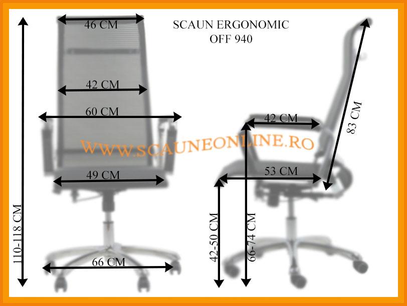 Dimensiuni scaune birou OFF 940