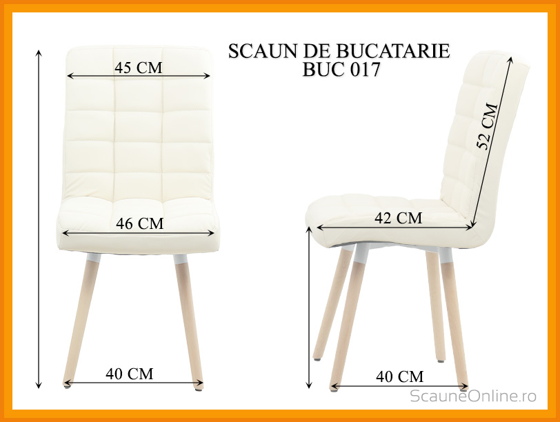 Dimensiuni Scaun de bucatarie BUC 017