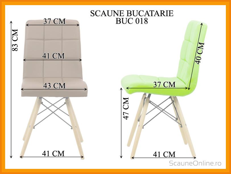Dimensiuni Scaun de bucatarie BUC 018