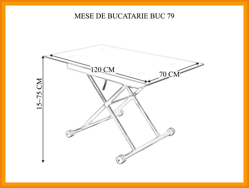 Dimensiuni Masa Bucatarie BUC 79