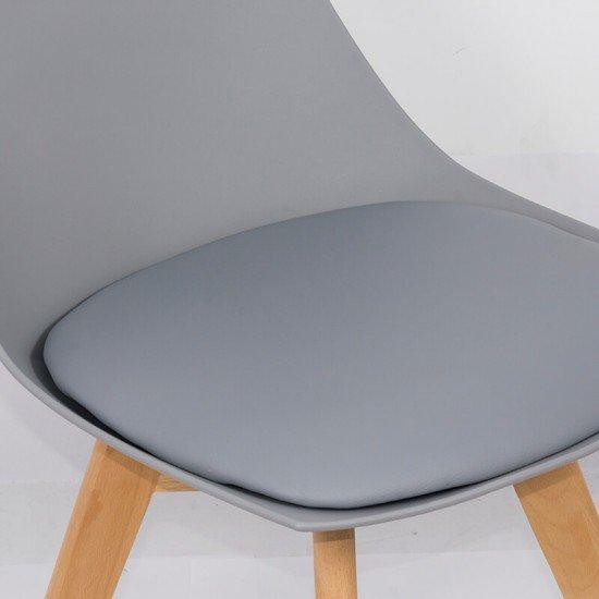 Scaun living cu picioare din lemn BUC 245 gri