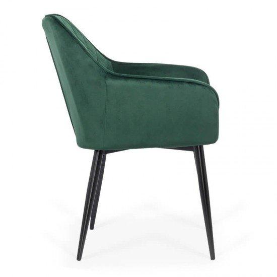Scaun dining din catifea BUC 258 verde