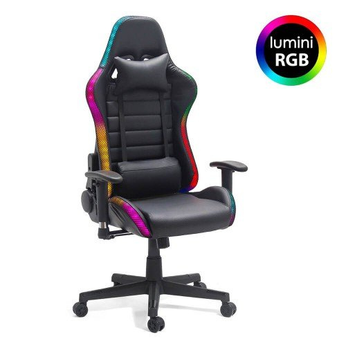 Scaun Gaming Banda Led Rgb 301