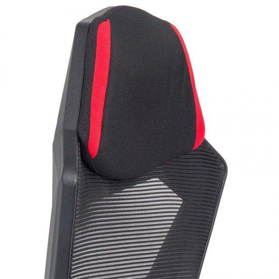 Scaun gaming cu suport de picioare OFF 304 rosu