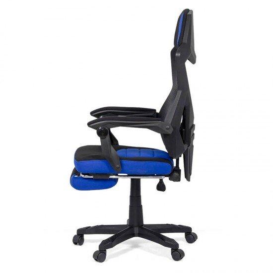Scaun gaming cu suport de picioare OFF 304 albastru