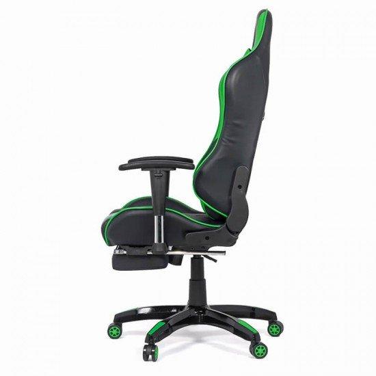 Scaun gaming cu spatar rabatabil OFF 306 verde