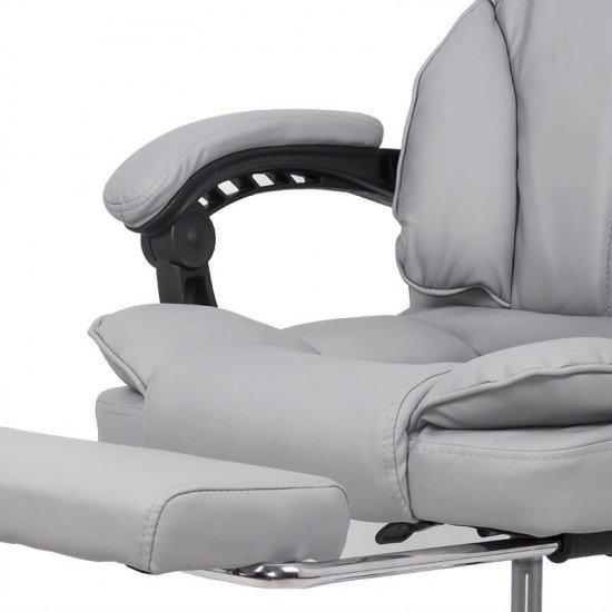 Scaun directorial cu suport de picioare OFF 415 gri