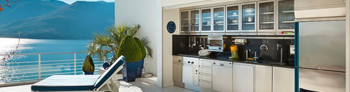 Bucătărie în balcon: Poze si idei pentru amenajari practice