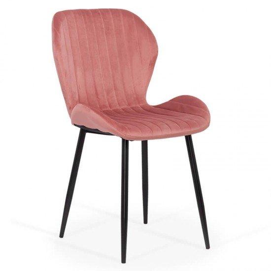 Scaun living din catifea BUC 248U roz