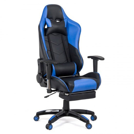 Scaun gaming cu spatar rabatabil OFF 306 albastru