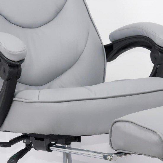 Scaun directorial cu suport de picioare OFF 423 gri