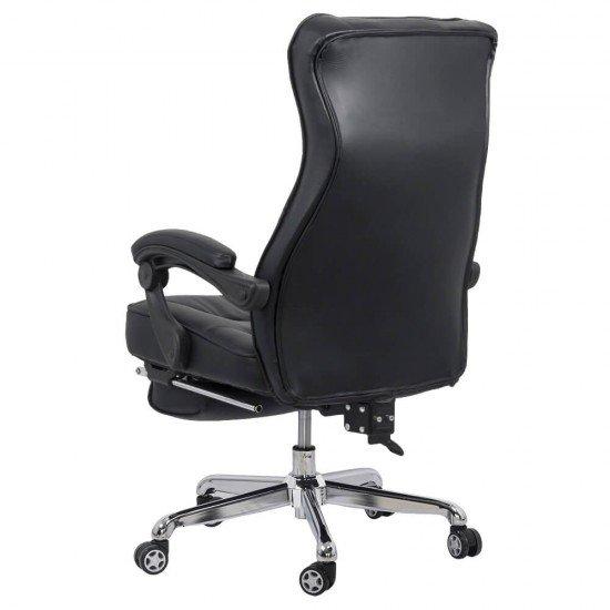 Scaun directorial cu suport de picioare OFF 423 negru