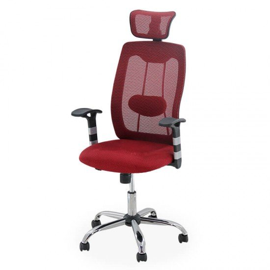 Scaun ergonomic de birou OFF 988 visiniu