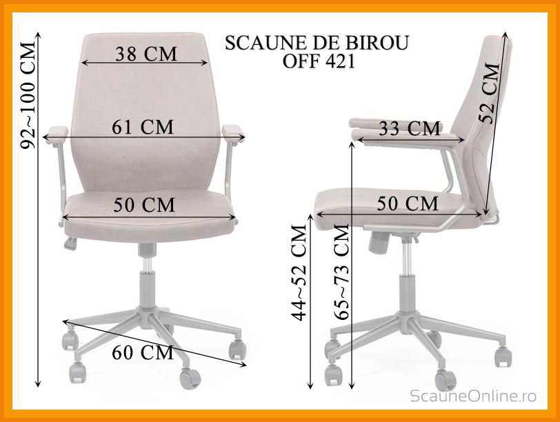 Dimensiuni scaun birou OFF 421